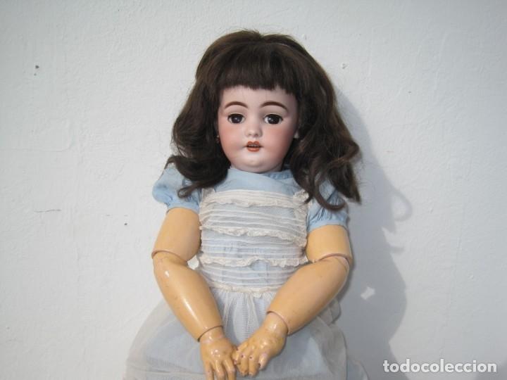 Muñecas Porcelana: PRECIOSA MUÑECA DE PORCELANA SIMON & HALBIG DEP 1039, CUERPO JUMEAU DIPLOME DHONEUR 53 CM APROX. - Foto 3 - 55099415