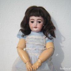 Muñecas Porcelana: PRECIOSA MUÑECA DE PORCELANA SIMON & HALBIG DEP 1039, CUERPO JUMEAU DIPLOME D'HONEUR 53 CM APROX.. Lote 55099415