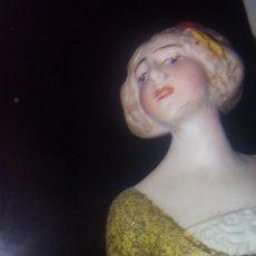 Muñecas Porcelana - DAMA FLORERO PORCELANA BISCUIT MODERNISTA, HERTWIG - 135688499