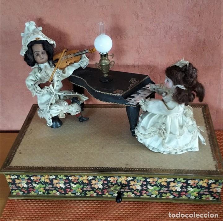 ANTIGUO AUTOMATA ALEMANA CONCIERTO DE MUÑECAS 1900 (Juguetes - Muñeca Extranjera Antigua - Porcelana Alemana)