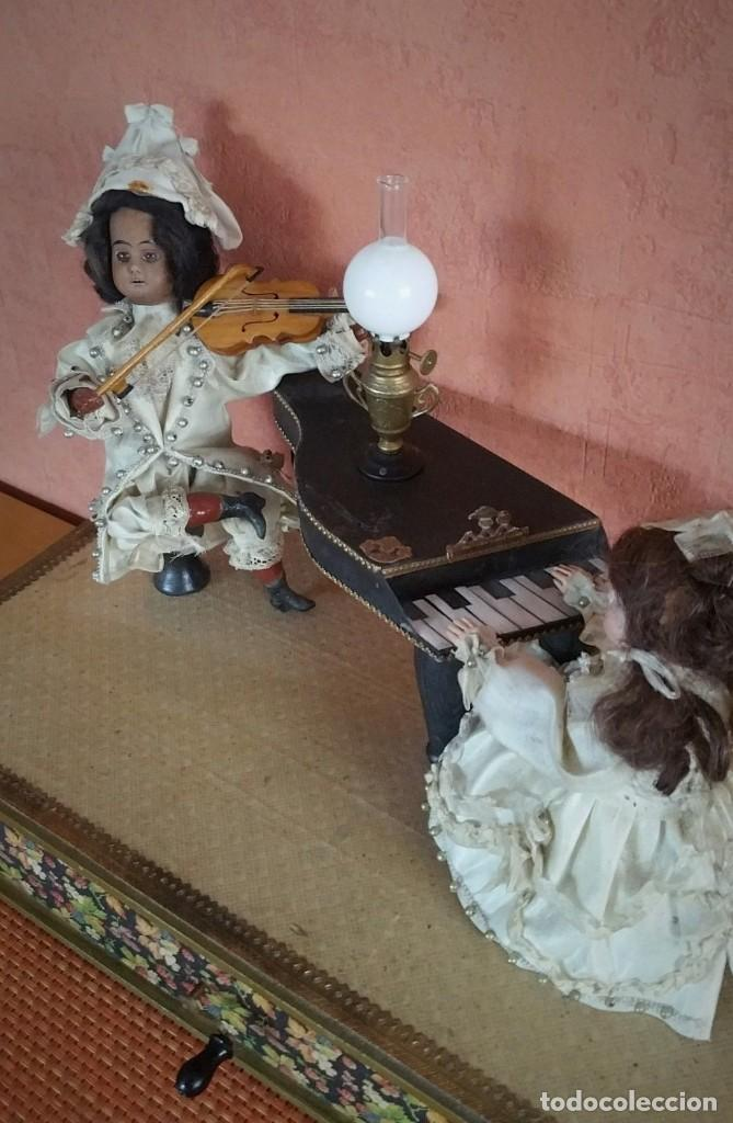 Muñecas Porcelana: ANTIGUO AUTOMATA ALEMANA CONCIERTO DE MUÑECAS 1900 - Foto 4 - 147369282
