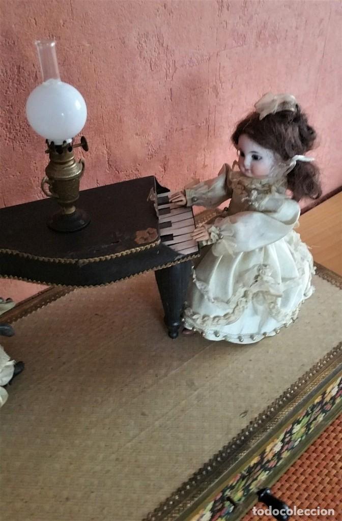 Muñecas Porcelana: ANTIGUO AUTOMATA ALEMANA CONCIERTO DE MUÑECAS 1900 - Foto 5 - 147369282