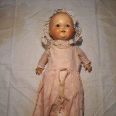 Muñecas Porcelana: MUÑECA CABEZA DE PORCELANA,PRINCIPIOS DE SIGLO EN BUEN ESTADO.. Lote 147891518