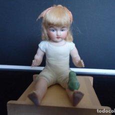 Muñecas Porcelana: MUÑECA ANTIGUA ALEMANA DE BISCUIT BABY PIANO. Lote 150227750