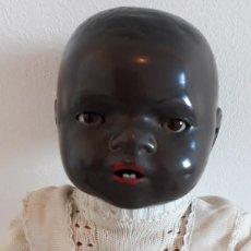 Muñecas Porcelana: MUÑECO ALEMAN ARMAND MARSELLE - BEBE NEGRO EN PORCELANA N .3. Lote 154466904