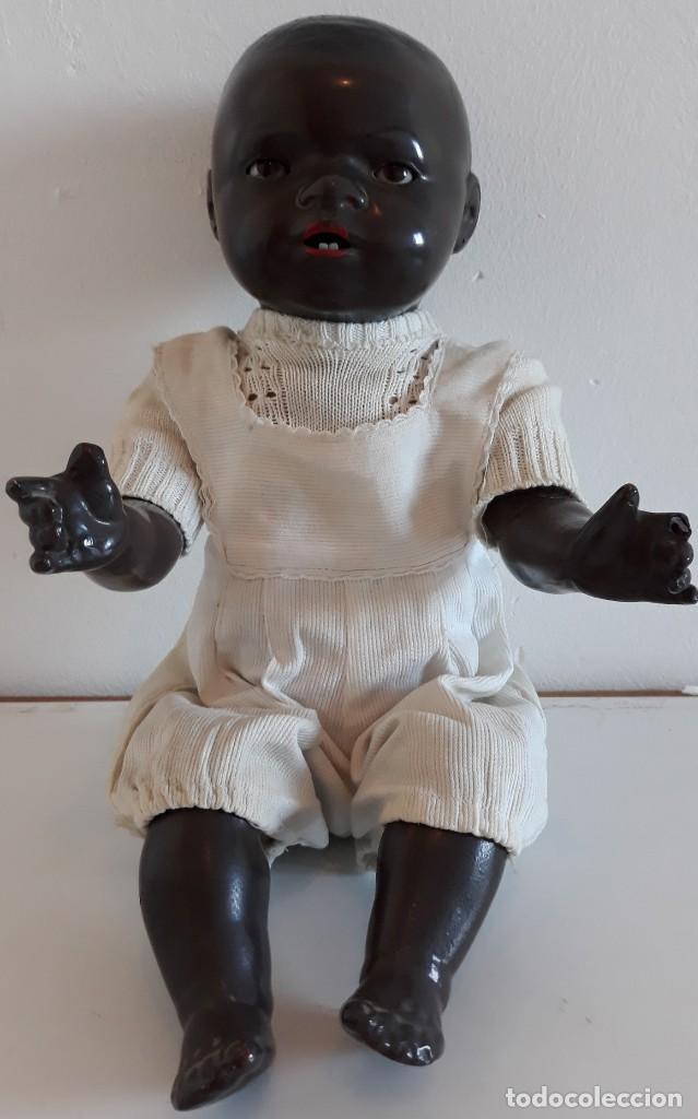 Muñecas Porcelana: MUÑECO ALEMAN ARMAND MARSELLE - BEBE NEGRO EN PORCELANA N .3 - Foto 2 - 154466904
