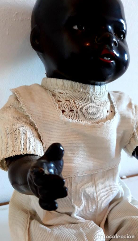 Muñecas Porcelana: MUÑECO ALEMAN ARMAND MARSELLE - BEBE NEGRO EN PORCELANA N .3 - Foto 3 - 154466904