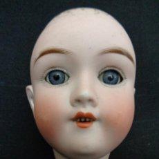 Muñecas Porcelana - Cabeza antigua alemana en porcelana-biscuit marcada Handwerck - 152640814