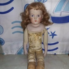 Muñecas Porcelana: MUÑECA ARMAND MARSEILLE GERMANY 59 CM CUERPO SERRÍN PIERNAS ARTICULAS EN RODILLAS Y MUSLOS SELLADA. Lote 155728990