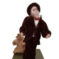 Muñecas Porcelana: AUTÓMATA,MUÑECAS DE PORCELANA , ANTIGUAS.VER VIDEO.PRECIOSA. Lote 156721278