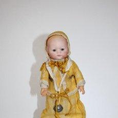 Muñecas Porcelana: ANTIGUO BEBE GERMANY 0 CARITA DE PORCELANA CUERPO DE TRAPO - SELLO TORTUGA. Lote 157794578