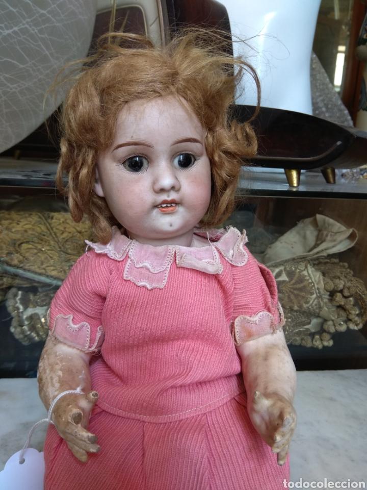 Muñecas Porcelana: Antigua Muñeca de Porcelana y Cartón Piedra - Foto 5 - 160991513