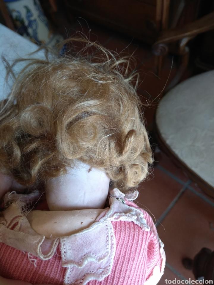 Muñecas Porcelana: Antigua Muñeca de Porcelana y Cartón Piedra - Foto 11 - 160991513