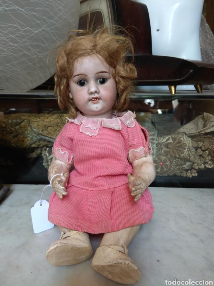 Muñecas Porcelana: Antigua Muñeca de Porcelana y Cartón Piedra - Foto 12 - 160991513