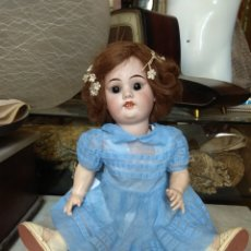 Muñecas Porcelana: ANTIGUA MUÑECA CABEZA PORCELANA - CUERPO CARTÓN PIEDRA -. Lote 161127885