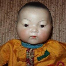 Muñecas Porcelana: MUÑECO ORIENTAL,PORCELANA,BRUNO SCHMIDT,GERMANY,PPIO DEL S.XX. Lote 167191572