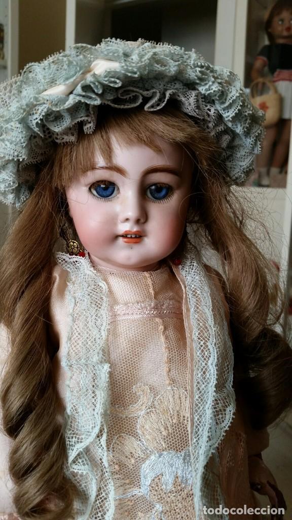 Muñecas Porcelana: MUÑECA DE PORCELANA DE 45 CM DEP SIMON Y HALBIG HABLADORA - Foto 2 - 168810788