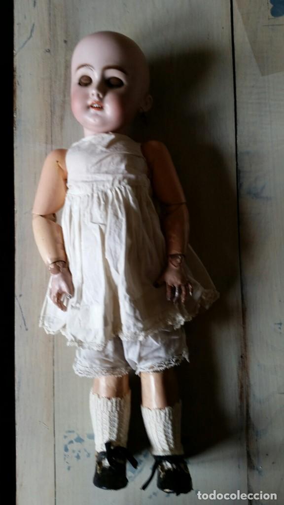 Muñecas Porcelana: MUÑECA DE PORCELANA DE 45 CM DEP SIMON Y HALBIG HABLADORA - Foto 6 - 168810788