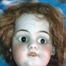 Muñecas Porcelana: ANTIGUA CABEZA DE PORCELANA O BISCUIT SIGLO XXI - OJOS DIENTES PELO VER FOTOS POSIBLEMENTE ALEMANA. Lote 170021100