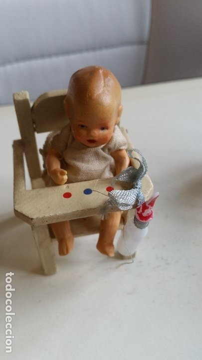 ANTIGUA MONECA DE COLECION HECHA DE PORCELANA MADE GERMANY ANOS 30,40 EN SUA CADARITA (Juguetes - Muñeca Extranjera Antigua - Porcelana Alemana)