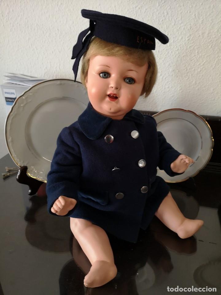 Muñecas Porcelana: PRECIOSO BEBE ARMAND MARSELLE 50 CM AÑOS 30,VA MARCADO,(ROPA NO INCLUIDA) - Foto 3 - 174370442