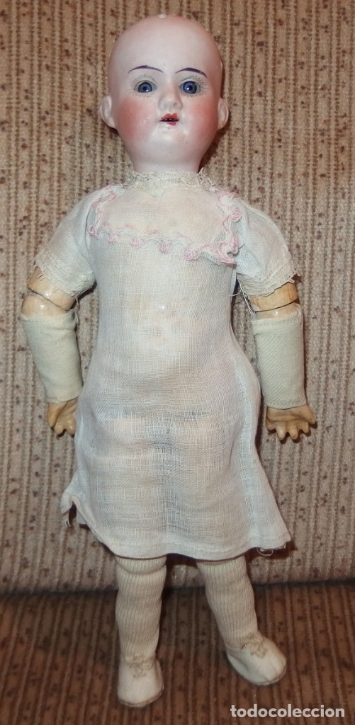 Muñecas Porcelana: PEQUEÑA MUÑECA GREBÜDER KNOCH,PORCELANA,GERMANY,201,ARTICULADA,25 CMS,CUERPO MARCADO,PPIO S.XX - Foto 11 - 176502427