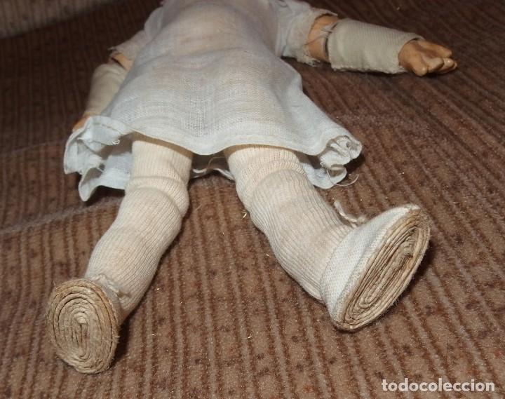 Muñecas Porcelana: PEQUEÑA MUÑECA GREBÜDER KNOCH,PORCELANA,GERMANY,201,ARTICULADA,25 CMS,CUERPO MARCADO,PPIO S.XX - Foto 21 - 176502427