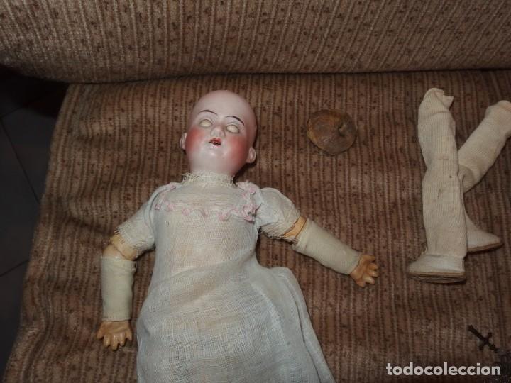 Muñecas Porcelana: PEQUEÑA MUÑECA GREBÜDER KNOCH,PORCELANA,GERMANY,201,ARTICULADA,25 CMS,CUERPO MARCADO,PPIO S.XX - Foto 31 - 176502427