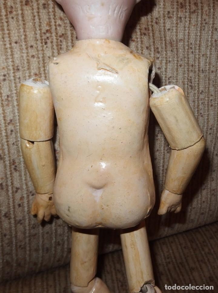 Muñecas Porcelana: PEQUEÑA MUÑECA GREBÜDER KNOCH,PORCELANA,GERMANY,201,ARTICULADA,25 CMS,CUERPO MARCADO,PPIO S.XX - Foto 39 - 176502427