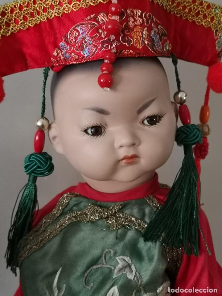 Muñecas Porcelana: IMPRESIONANTE JOYA DE COLECCIONISTA PAREJA DE ASIATICO AÑOS 40 ,PORCELANA ALEMANA - Foto 2 - 177955903