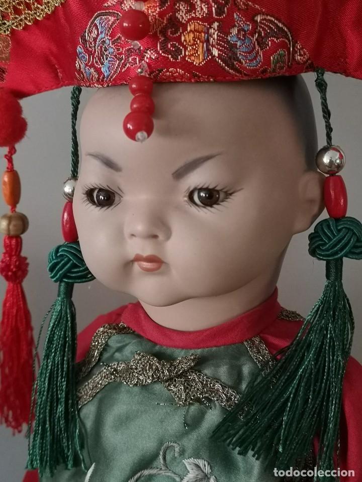 Muñecas Porcelana: IMPRESIONANTE JOYA DE COLECCIONISTA PAREJA DE ASIATICO AÑOS 40 ,PORCELANA ALEMANA - Foto 3 - 177955903