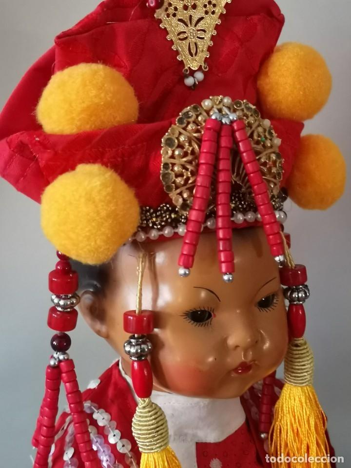 Muñecas Porcelana: IMPRESIONANTE JOYA DE COLECCIONISTA PAREJA DE ASIATICO AÑOS 40 ,PORCELANA ALEMANA - Foto 4 - 177955903