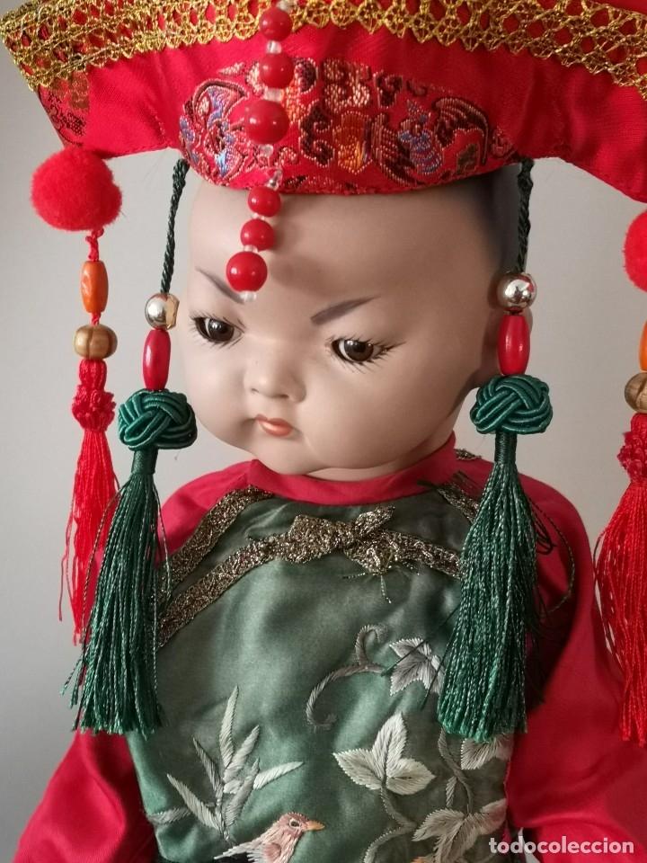 Muñecas Porcelana: IMPRESIONANTE JOYA DE COLECCIONISTA PAREJA DE ASIATICO AÑOS 40 ,PORCELANA ALEMANA - Foto 6 - 177955903