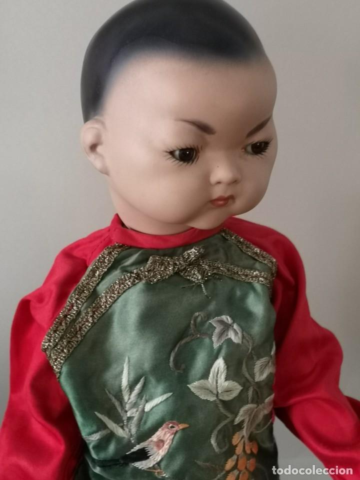 Muñecas Porcelana: IMPRESIONANTE JOYA DE COLECCIONISTA PAREJA DE ASIATICO AÑOS 40 ,PORCELANA ALEMANA - Foto 8 - 177955903