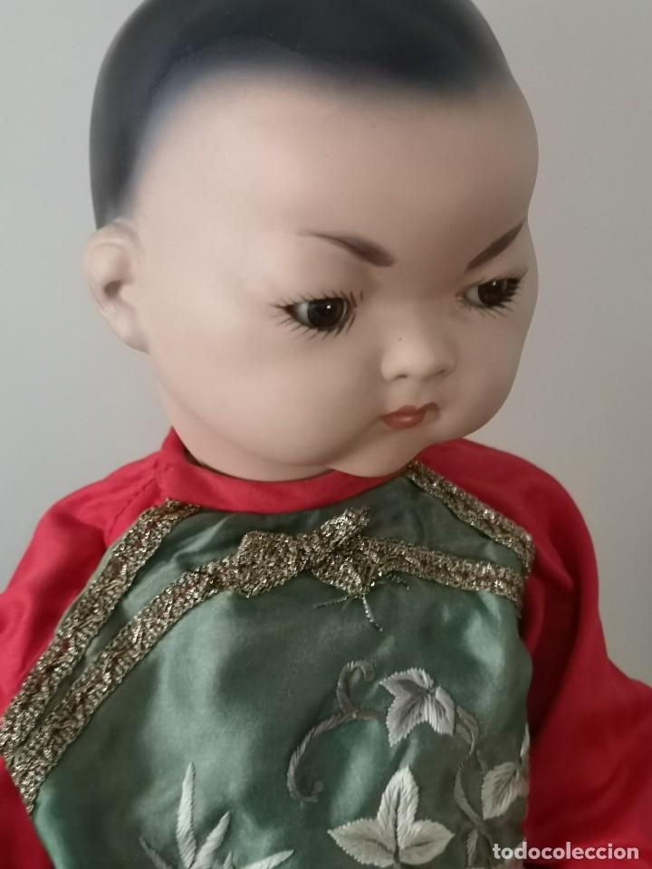 Muñecas Porcelana: IMPRESIONANTE JOYA DE COLECCIONISTA PAREJA DE ASIATICO AÑOS 40 ,PORCELANA ALEMANA - Foto 9 - 177955903
