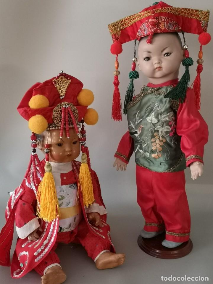 Muñecas Porcelana: IMPRESIONANTE JOYA DE COLECCIONISTA PAREJA DE ASIATICO AÑOS 40 ,PORCELANA ALEMANA - Foto 17 - 177955903