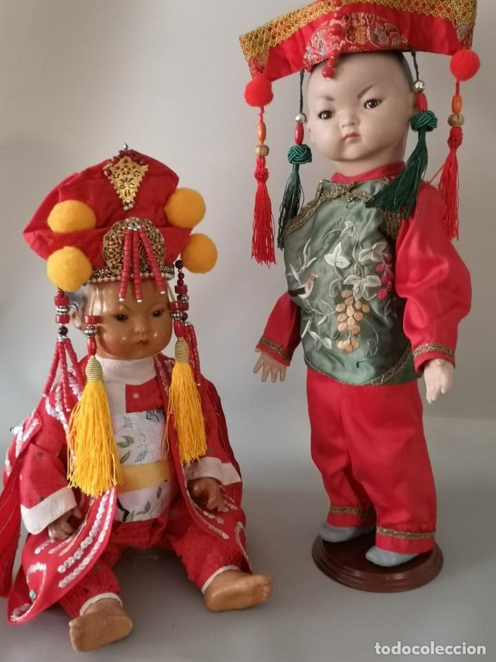Muñecas Porcelana: IMPRESIONANTE JOYA DE COLECCIONISTA PAREJA DE ASIATICO AÑOS 40 ,PORCELANA ALEMANA - Foto 18 - 177955903