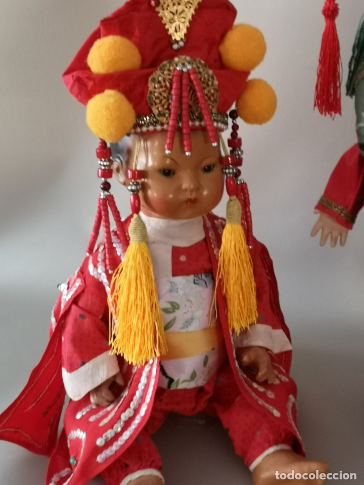Muñecas Porcelana: IMPRESIONANTE JOYA DE COLECCIONISTA PAREJA DE ASIATICO AÑOS 40 ,PORCELANA ALEMANA - Foto 19 - 177955903