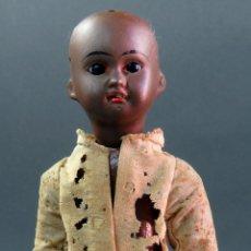 Muñecas Porcelana: MUÑECA NEGRA ALEMANA CABEZA PORCELANA MARCA CUERPO COMPOSICIÓN PP S XX 21 CM ALTO. Lote 181400947