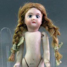 Muñecas Porcelana: MUÑECA PORCELANA ALEMANA PARA CASA MUÑECAS HACIA 1900 12 CM . Lote 182281677