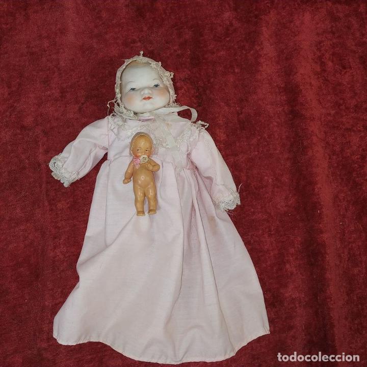 Muñecas Porcelana: 2 MUÑECAS EN BISCUIT. UNA CON EL CUERPO DE TELA. ALEMANIA. PRINCIPIO SIGLO XX - Foto 3 - 189749537