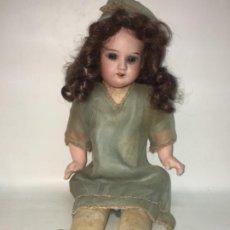 Muñecas Porcelana: ANTIGUA MUÑECA CABEZA DE PORCELANA ARMAND MARSEILLE 30 CMTS, ORIGINAL AÑOS 20. R80. Lote 190197723