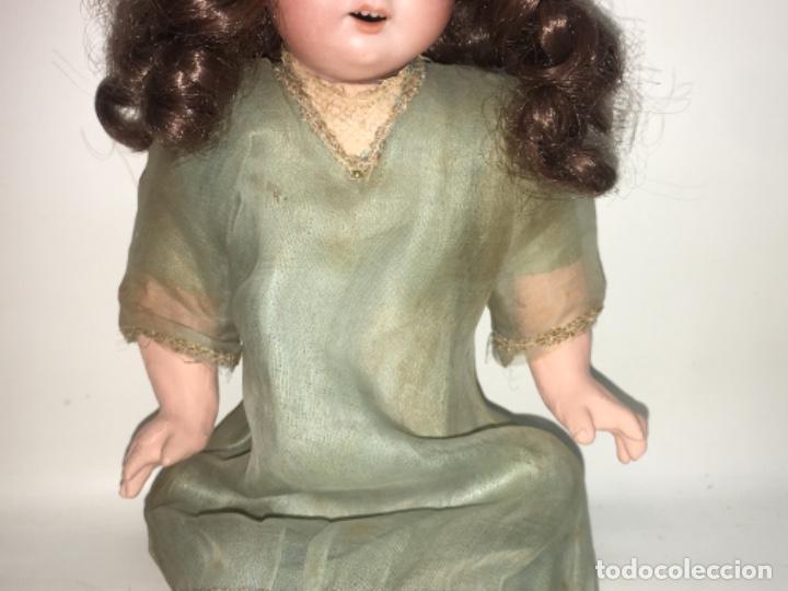 Muñecas Porcelana: Antigua muñeca cabeza de porcelana armand marseille 30 cmts, original años 20. R80 - Foto 3 - 190197723