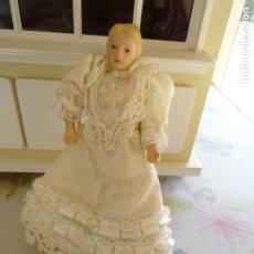 Muñecas Porcelana: MUÑECA ANTIGUA ALEMANA DE PORCELANA TAL VEZ PARA CASA DE MUÑECAS. Lote 190695840