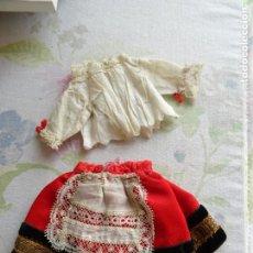 Muñecas Porcelana: VESTIDO ANTIGUO PARA LA MUÑECA ANTIGUA ALEMANA MARIE DE K&R O SIMILARES. Lote 190718848
