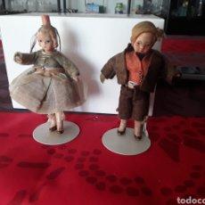 Poupées Porcelaine: PAREJA DE MUÑECOS ALEMANES MUY ANTIGUOS DE COLECCION. Lote 191155766