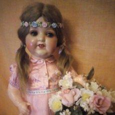 Muñecas Porcelana: PRECIOSA MUÑECA ARMAND MARSEILLE,PELO MOAHIR,OJOS DE CRISTAL DURMIENTES.FINALES SIGLO XIX. Lote 192381412