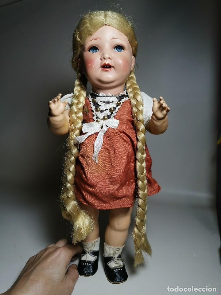 Muñecas Porcelana: ANTIGUA MUÑECA ALEMANA KWG, 133/13 KERAMISCHE WERKE GRAFENHAIN 46CM AÑOS 20 A 30, PRECIOSA - Foto 12 - 193738931