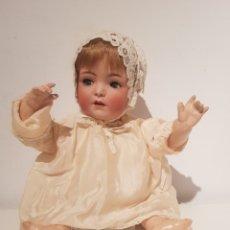 Muñecas Porcelana: ANTIGUO MUÑECA MUÑECO BEBE CABEZA DE PORCELANA ORIGINAL GRAN ESTADO SIN MARCA. Lote 194086843