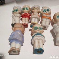 Muñecas Porcelana: GOOGLYS ALL BISCUIT COLECCION 7 PIEZAS GERMANY. Lote 194325267